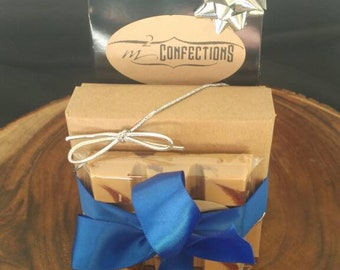Summer Gift Set- French Toast Candy Bar, Chipotle Cocoa Nib Brittle, Box of Truffles