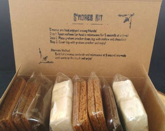 BYO S'mores Kit for Four - Chocolate, Marshmallow + Graham
