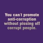 Purple George Kent Anti-Corruption Quote 18x18 Pillow