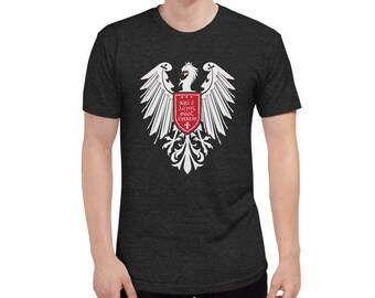 """Heraldic Eagle with """"And the Word Became Flesh"""" in Greek"""