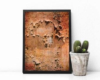 Rust - home decor, art photography, wall art, grunge, texture