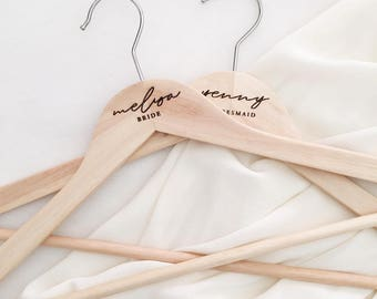 Engraved Wooden Hangers, Personalised