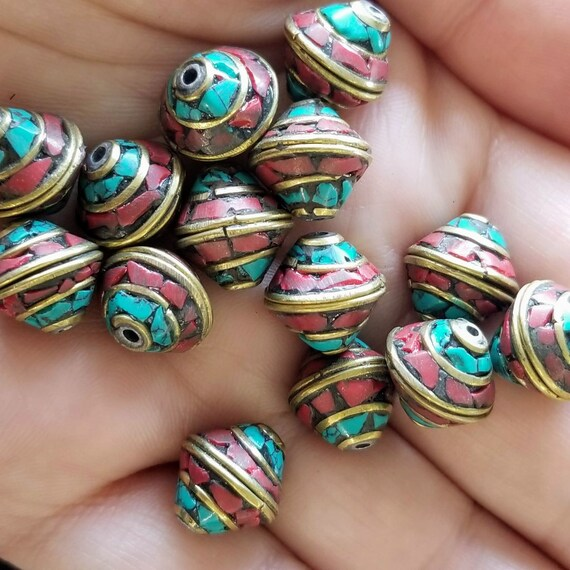 Beads Textured Bone Indonesian Large Pendants