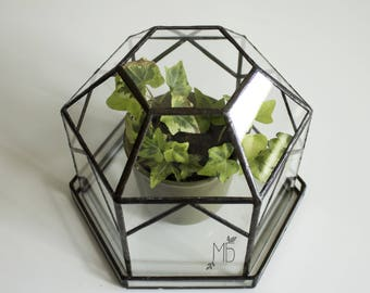 greenhouse/ orangery/ mini greenhouse / glasshouse/ terrarium/ Gardening Gift / Glass Terrarium Container