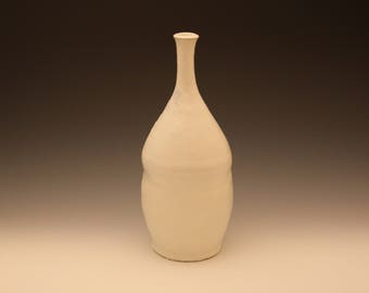 White Ceramic Bottle