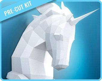 Papercraft Unicorn PRE-CUT KIT
