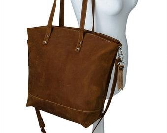 16cd16624980 Brown leather handbag handmade