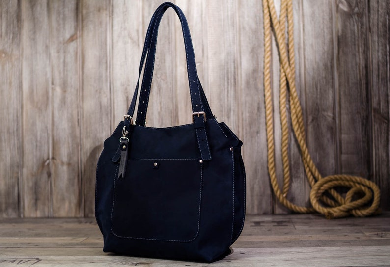 7642cd539400 Navy Blue leather handbags handmade leather bag women leather