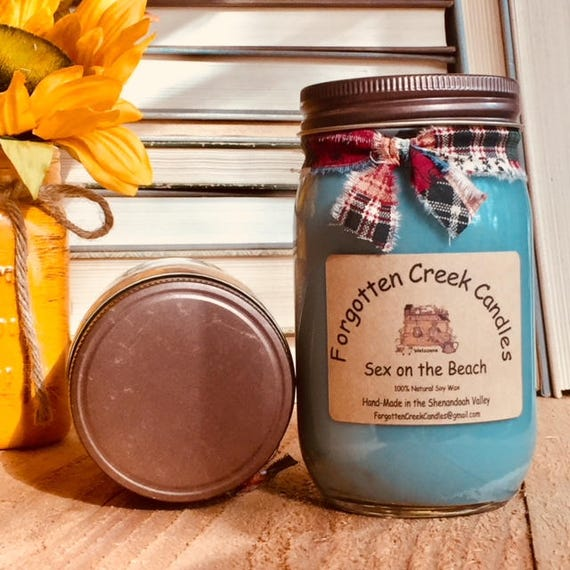 Hand Poured In Mason Jar Fresh Squeezed Orange SHIPS FREE Pure Soy Candle