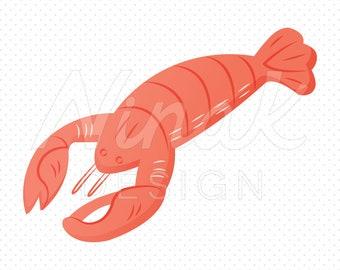 RED LOBSTER Clipart Illustration - 0031
