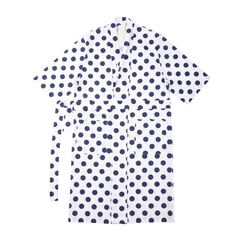 Sunday lovers Robe Navy dots