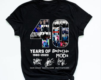 827b4c8ee Vintage 90's Depeche Mode Band Unisex T-shirt -40 Years of Depeche Mode  Tshirt-Birthday gift for men-Long Sleeve-Hoodie-Tank Top-AT9-184