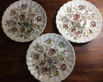 Staffordshire Bouquet Saucers/Ring Trays