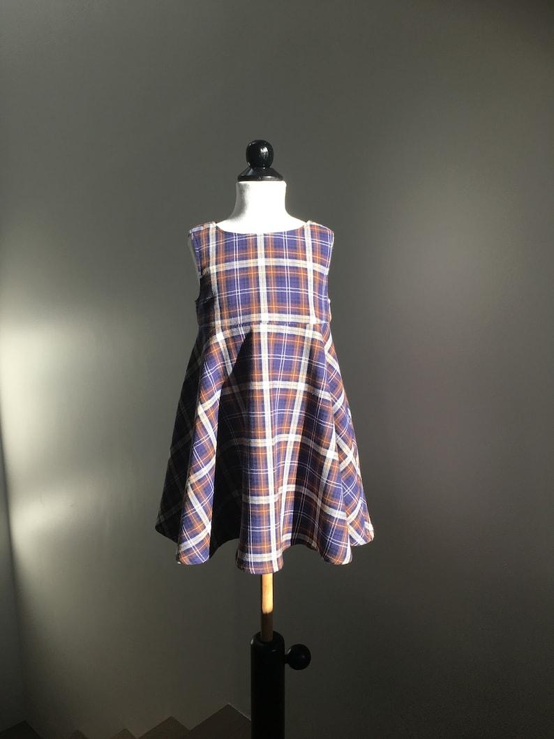 342e80dd495e Little girl tartan dress outfit for girl | Etsy