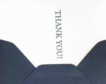 Thank you greeting card. Send gratitude with this card. Simple beautiful letterpress greeting card.