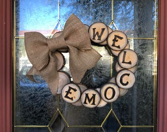 Rustic Welcome Wreath
