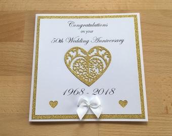 50th wedding card etsy golden wedding card golden wedding personalised anniversary 50th wedding card handmade card 50th wedding anniversary 50th wedding m4hsunfo