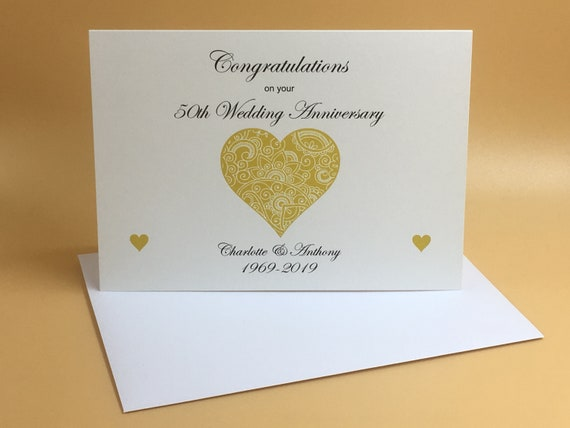 WEDDING DAY CONGRATULATIONS CARD PERSONALISED NAMES HEARTS CUSTOM A5 MULTI