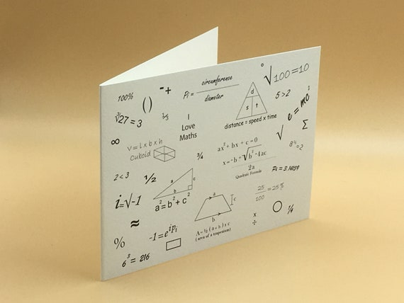Maths Card All Occasion Cards Maths Lovers Maths Birthday Etsy