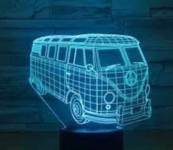 15 Colors changing LED Lamps With Remote Controller,Handmade products Etched in UK Fox 3D Illusion