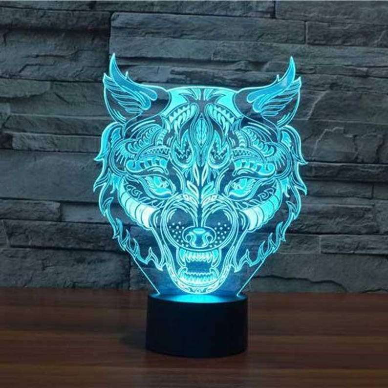 Remote Led Colors 3d Head Handmade Illusion15 Controller Products dxrBoeC