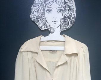 528f7696686 Floor length cream Ossie Clark for Radley 1970s crepe dress