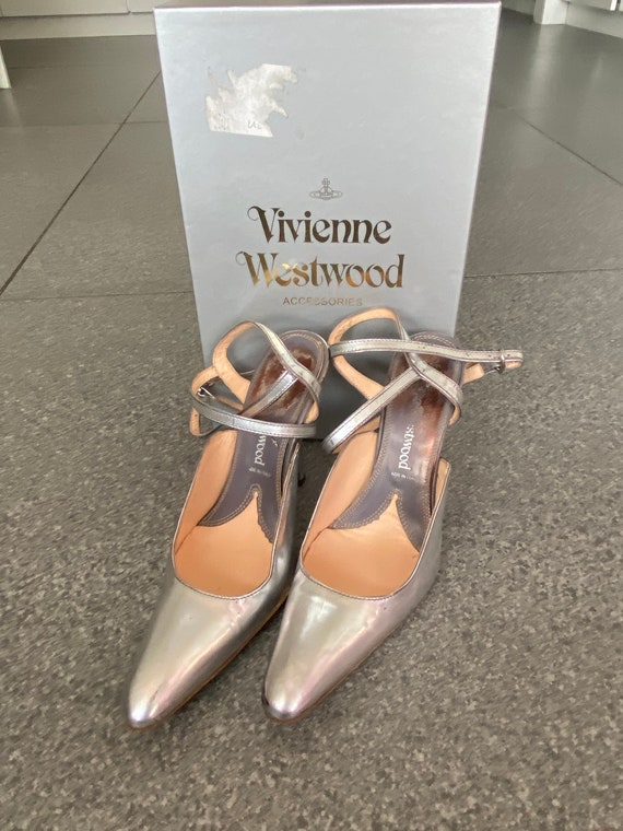 Divine Vivienne Westwood Silver Strappy Shoes Size