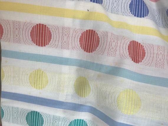 Exquisite handmade dotty 1950s circle print sun d… - image 10