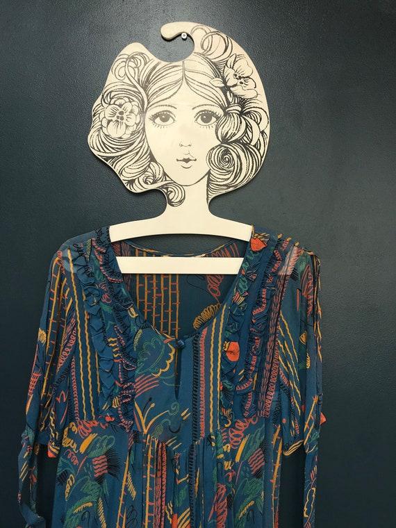 Stunning Ossie Clark x Celia Birtwell sheer thin c