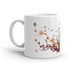 Coffee Mug | Mug | Plants | Nature | Tree| Ornamental | Gift | Tea | 11oz | Taza | Cafe