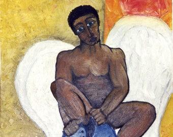 Oil Canvas Painting - Dangerous Loneliness