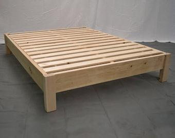 Unfinished Farmhouse Platform Bed / Traditional Platform Frame / Wood  Platform Reclaimed Bed / Modern / Urban / Cottage Platform Bed