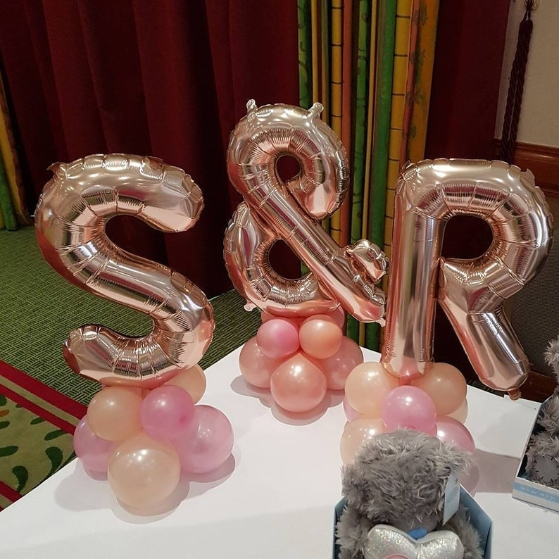 Birthday Wild ONE Rose Gold Balloons Gold Silver Balloons HAPPY 50TH Custom name Party Balloons Custom Letter Custom Balloons