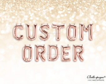 Custom Order Letter Balloons | Rose Gold Balloons | Gold Silver Balloons | Party |  Garland Balloon | Bridal Shower | Bridal | WEdding