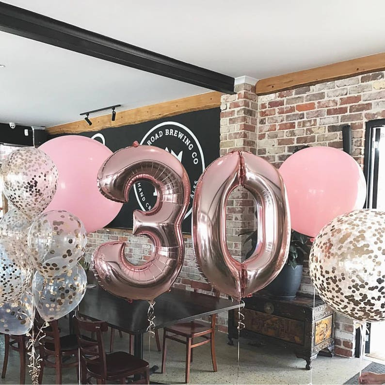Rose Gold Balloons Giant 40 Foil Balloon