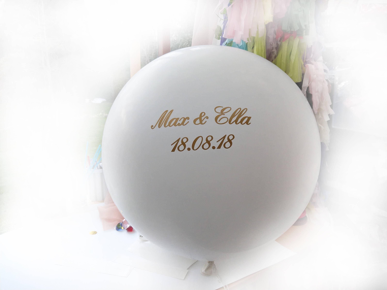 Personalized Balloon Vinyl Name Custom Balloons Bridal