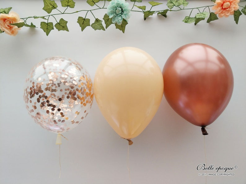 Ceiling Balloon Party Decorations Rose Gold Confetti Balloons Wedding Birthday Baby Decor Bouquet Copper Blush Balloons Engaged
