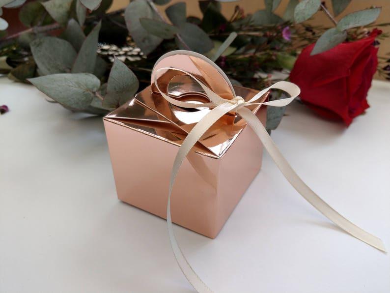 Rose Gold Favor Boxes Wedding Favors Wedding Boxes Diy Etsy