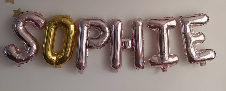 Birthday Rose Gold Balloons Gold Silver Balloons Custom Balloons Wild ONE Party Balloons Custom Letter HAPPY 50TH Custom name