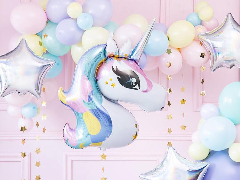 Unicorn Foil Balloon Kids Party Decorations Happy Birthday Magic Fun Gift One Smash Cake