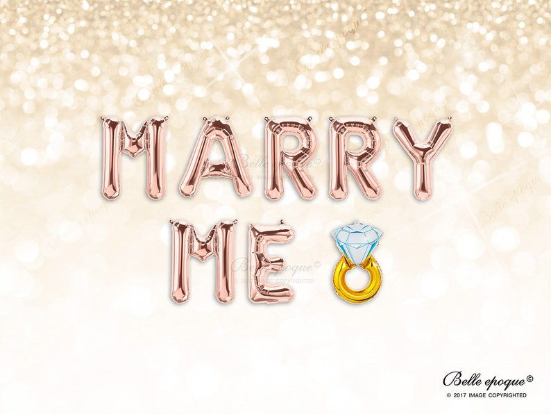 242eb2b7043 Marry Me balloons Rose Gold Balloons Gold Silver Balloons