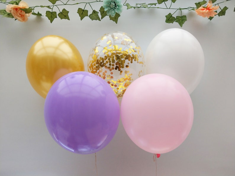 Birthday Wedding Garland Bouquet Ceiling Balloons Hen Do Decorations Party Engaged Gold Gold Confetti Balloons Bride To Be Baby