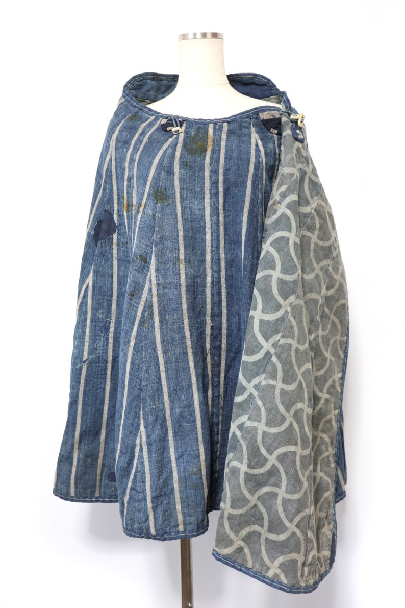 Edo period poncho \u9053\u4e2d\u5408\u7fbd japanese vintage Travel jacket Rainwear  SAMURAI