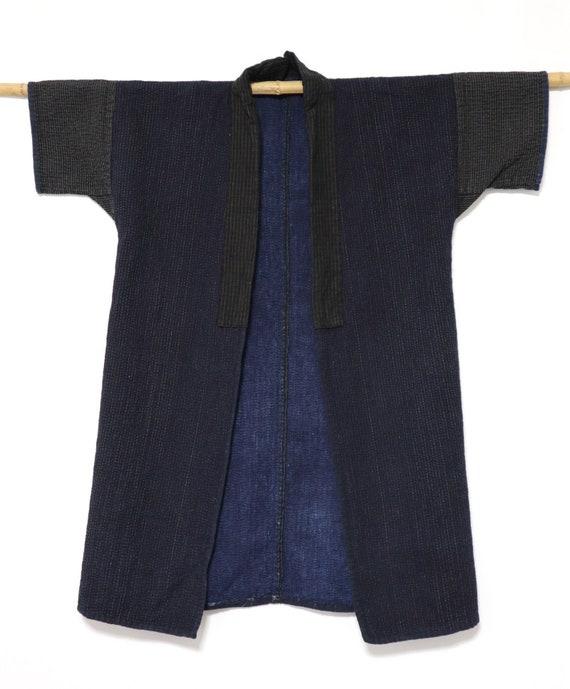 Sashiko INDIGO NORAGI Japanese Vintage Hanten