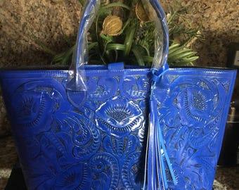 Handmade bag chiseled skin