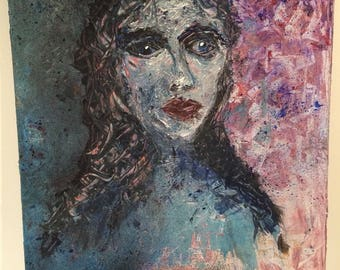 Painting : girl forever looking