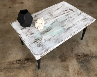 Whitewash Table Etsy