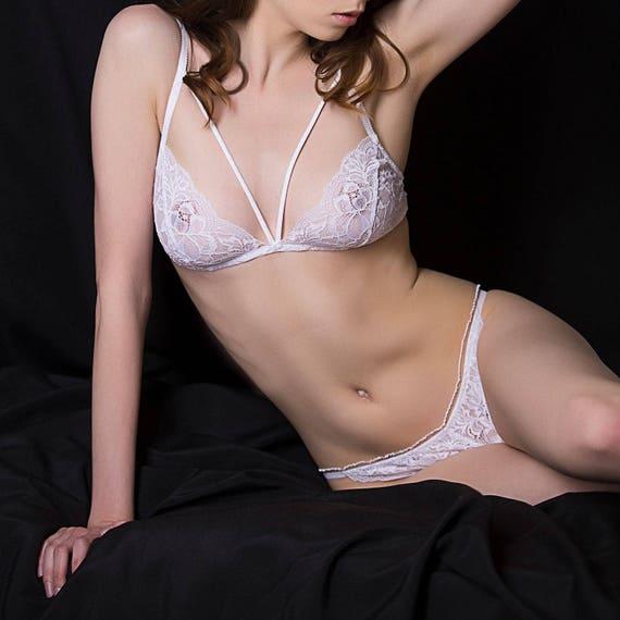 2727f882ae White lingerie sets sheer lingerie luxury See through