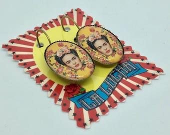 Frida Kahlo Amarillo earrings