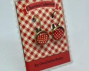 Earrings dots - Red